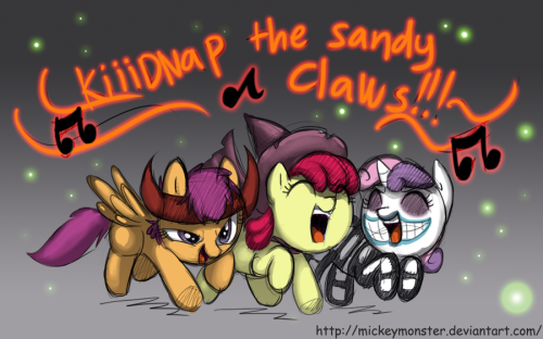 fishermanofponibooru:  Cutie Mark Crusader Sandy Clausnappers YAY