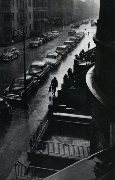 liquidnight:  Ruth Orkin Man in Rain, circa 1950s From A Photo Journal