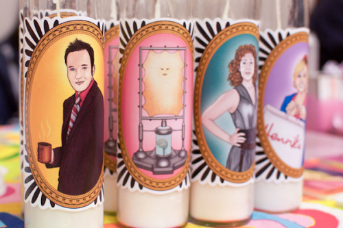 My Doctor Who prayer candles at GeekGirlCon, photographed for GeekWire!
