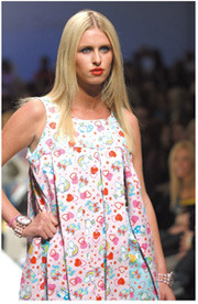 Recent snapshot from a Hello Kitty fashion show.
