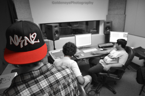 NKNZ in the studio!! Recording for our upcoming album, photography courtesy of Blair Golden GoldeneyePhotography