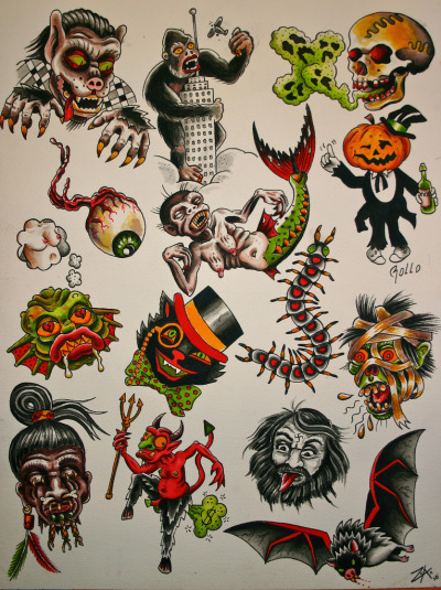 crazy tattoo ideas boys halloween tattoos nyc. Black Bedroom Furniture Sets. Home Design Ideas