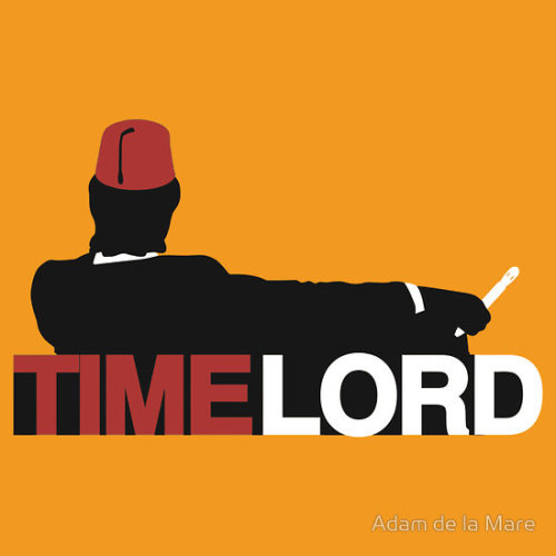 Time Lord T-Shirt by www.brotheradam.com.au This t-shirt by Adam de la Mare is for all you fans of Doctor Who… and Mad Men!