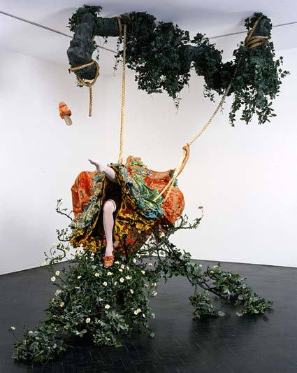 Time for a bit of Culture Yinka Shonibare, The Swing (after Fragonard) (2001)Click Pic