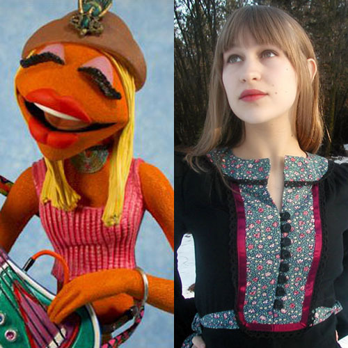Joanna Newsom appears on Muppets soundtrack Joanna Newsom and Feist will both appear on The Muppets soundtrack. That noise you can hear in the distance? That's the sound of hipsters exploding through sheer giddy joy. Newsom will be appearing on the iconic Muppet Show theme (we're not sure if  she'll be singing, or just playing her harp, but either way we're ridiculously excited) and Feist will join Mickey Rooney (!) and many, many others for what looks set to be this film's Rainbow Connection, Life's A Happy Song.[FOR THE FULL STORY INCLUDING THE ALBUM TRACKLIST, CLICK ON THE IMAGE OR FOLLOW THIS LINK]