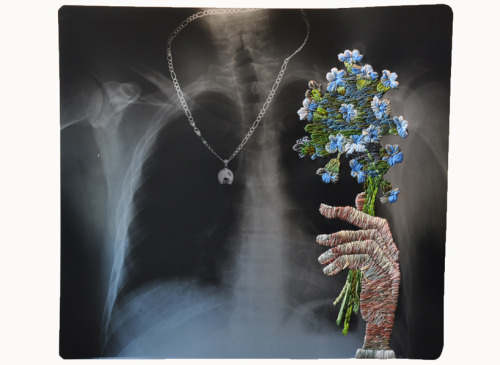 Embroidered X-rays by Matthew Cox  (via Design Boom)