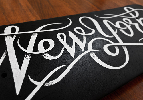 @typeverything - New York skateboard by @simonalander #design #typography