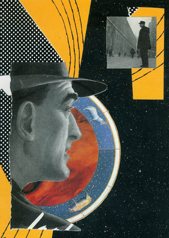 'Parallax' - Collage on Board 2011 http://www.facebook.com/hoop.and.stick.art http://society6.com/hoopandstick