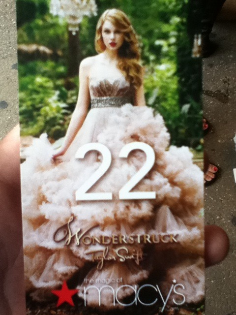 Pass given out to buy the Wonderstruck Gift Set/Vip Meet and Greet Pass at Macy's Harold Square in NY. (via @tswiftontour)