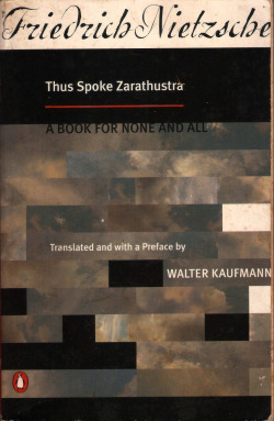 "Title:Thus Spoke Zarathustra: A Book for None and AllAuthor: Friedrich Wilhelm Nietzsche, Friedrich NietzscheTranslator, Preface: Walter Arnold Kaufmann Publisher:    Penguin Group USA, IncPublication Date: September 19, 1995Genre: PhilosophySummary Description: Thus Spoke Zarathustra is a masterpiece of literature as well as philosophy. It was Nietzsche's own favorite and has proved to be his most popular. In this book he addresses the problem of how to live a fulfilling life in a world without meaning, in the aftermath of ""the death of God."" His solution lies in the idea of eternal recurrence, which he calls ""the highest formula of affirmation that can ever be attained."" A successful engagement with this profoundly Dionysian idea enables us to choose clearly among the myriad possibilities that existence offers, and thereby to affirm every moment of our lives with others on this ""sacred"" earth.Grahm Parkes's new translation is more accurate than previous versions, and is the first to retain the musicality of the original, by paying attention to the rhythms and cadences of the German. His introduction examines the work's three most important philosophical ideas and for the first time annotates the abundance of allusions to the Bible and other classic texts with which Nietzsche's masterpiece is in conversation. —This text refers to an out of print or unavailable edition of this title.ISBN: 0140047484 ISBN-13: 9780140047486"