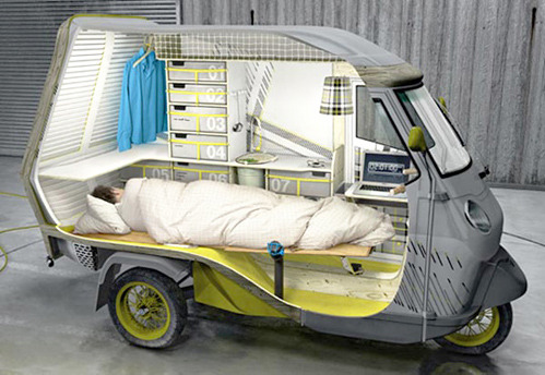 fastcompany:  Hmmm, where have we seen this camper before? Oh, riiiiight! nevver:  The Bufalino Camper