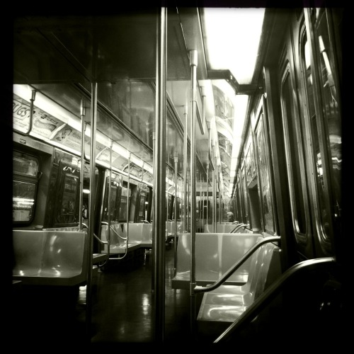 F Train John S Lens, Claunch 72 Monochrome Film, No Flash, Taken with Hipstamatic