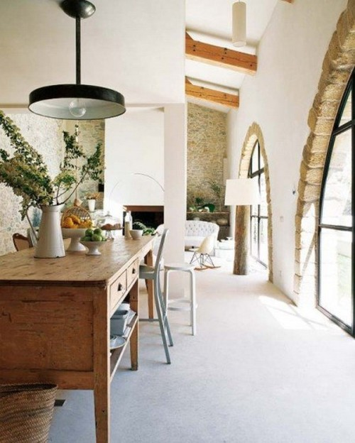 Inside an old mill that has been transformed into a modern home (via Old Mill Tranformed Into Contemporary Dream Home with Vintage Details)