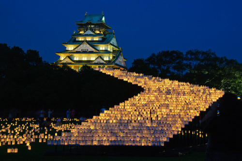 traditionaljapan:  Osaka Castle lantern festival or Osaka Jo Lanterns 2 by Osaka Ian on Flickr.