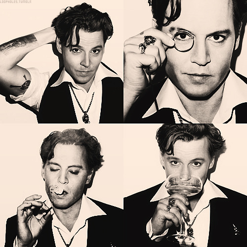 Ultra cool ICON Johnny Depp - that hair is amazing