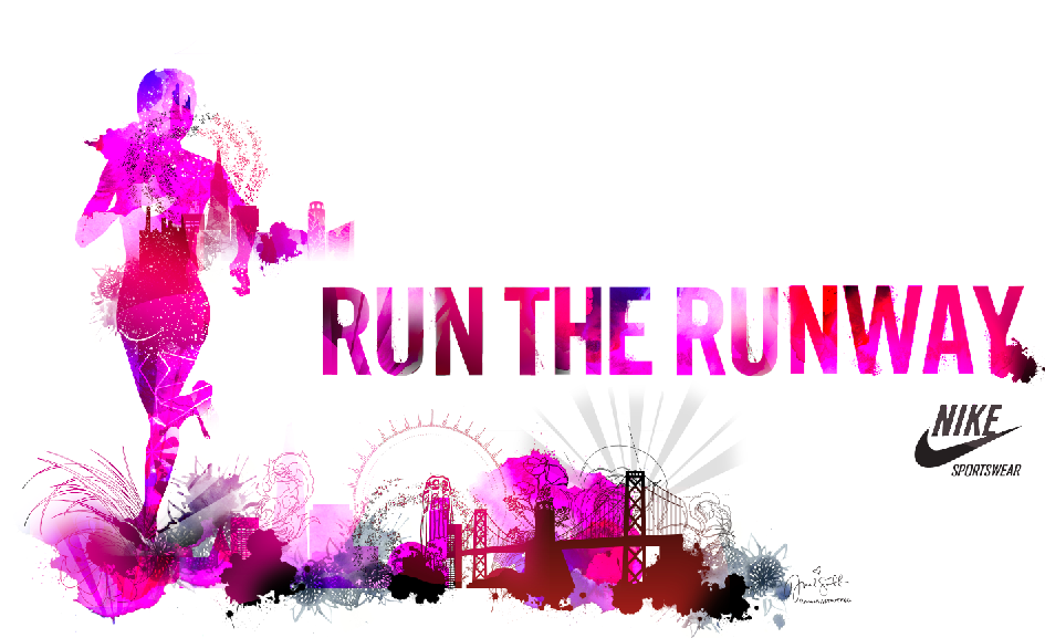 Hannah Stouffer Poster design created for the Nike Women's Marathon 2011 - A race to benefit the Leukemia and Lymphoma Society. RACE DAY 10.16.11