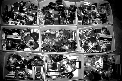 Vintage Cameras in Boxes. by ishoothorizon on Flickr.