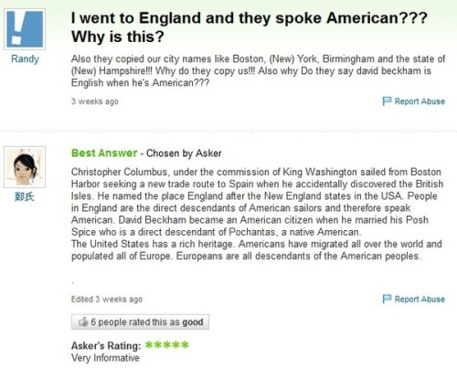 Why do people in England speak American? xD