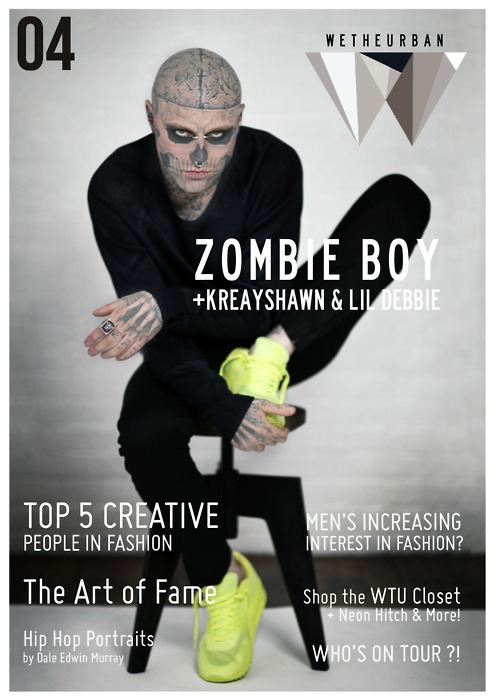 wetheurban:  3 More Day's 'Till WeTheUrban Magazine #4! The issue, which features cover star Rick Genest (aka Zombie Boy) will be completely digital and completely free! 3 days!