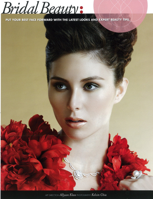 Beauty Editorial from Style Wedding Magazine Singapore September Issue.