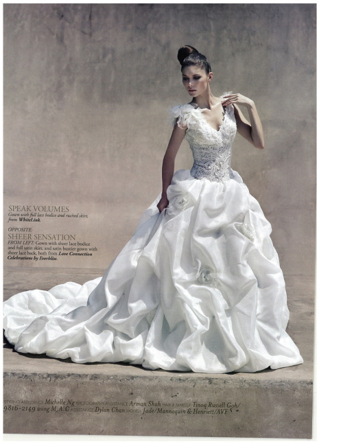 Fashion Editorial from Style Wedding Magazine Singapore September Issue.