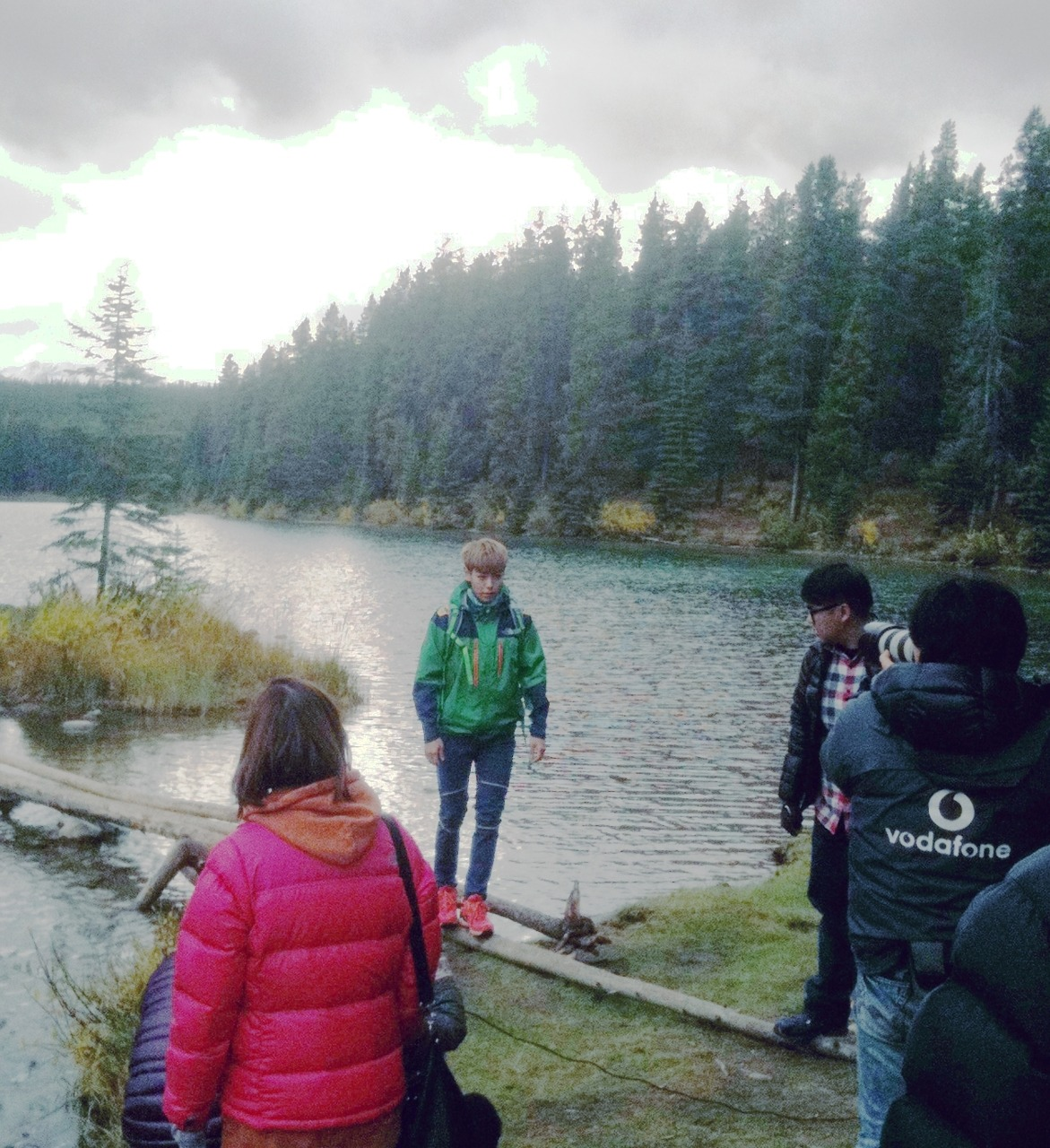 Another FanTaken Photo of TOP Shooting for The North Face in Canada source : @Real_Banff Previous pictures are here.