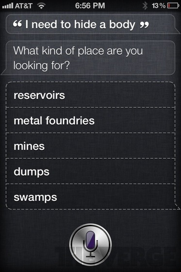 Siri says some weird things