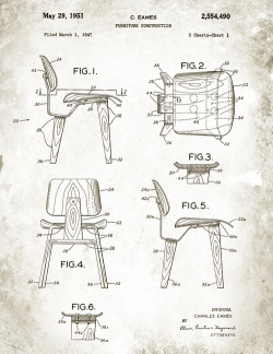 eames dcw chair patent