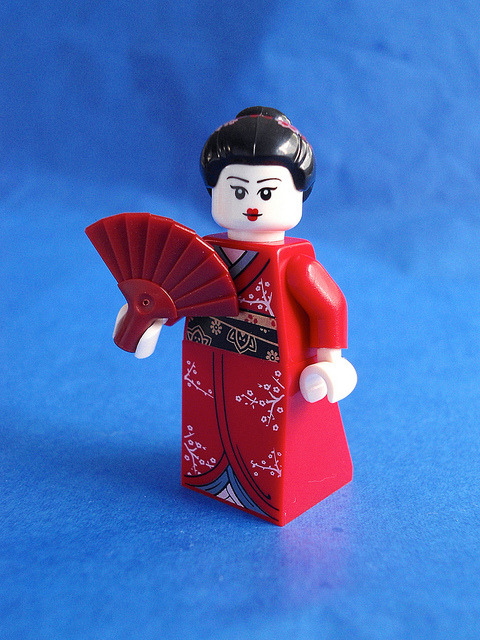 portrait of a geisha on Flickr.LEGO mini-figure fun.