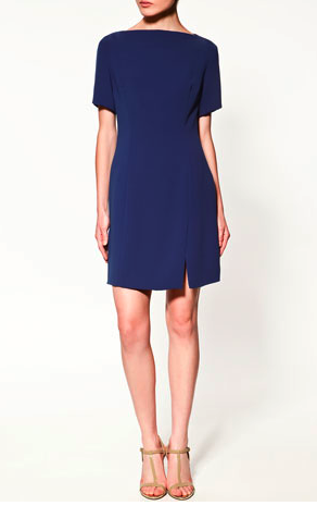 Dress with slits, Zara. I love the boatneck.