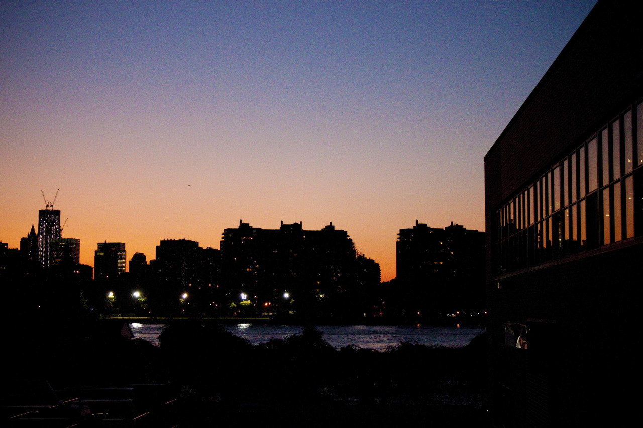 Sunset on the East River.