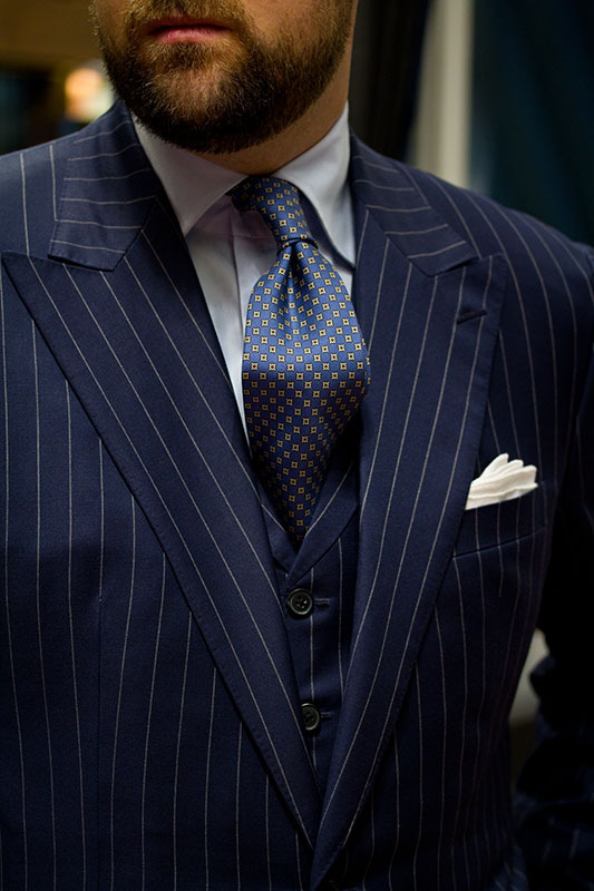 I guess it was pinstripe day at The Armoury yesterday. WW Chan, Drake's