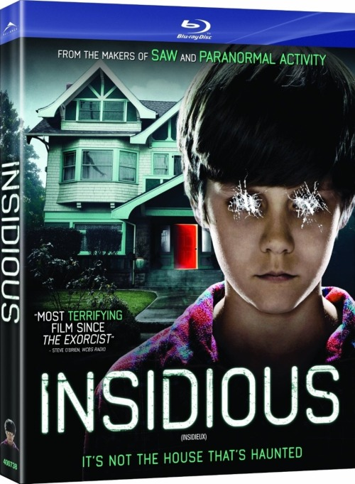 "Insidious received very mixed reviews - some said it was the scariest film they've ever seen, some said it was stupid and not worth their time, others (like Meg) told me that she had trouble sleeping because of it. It's not my type of film. Don't scare me. I hate being scared. Meg still persisted that I finally check it out…so I did. I have to admit that even though the film itself was very scary, it wasn't nearly as bad as I thought it was going to be. It was also slightly fragmented in the way it was presented. The first half of the film builds off of the horror/suspense genre of the films of the 70's and 80's. I thought of Poltergeist a couple of times in the beginning. It was much more simple in the way the horror aspect of the film was being presented to the audience, going for (what could be considered) cheap thrills and scares. The atmosphere was perfect and it set the film up to be something that the second half changed on the audience. The film then follows Poltergeist and brings psychic mediums into the mix, preparing to exorcise the demons, turning the film a bit more surreal and bizarre. From there the film unravels slightly and becomes more predictable than terrifying, and leans much more heavily on the use of special effects and Nightmare on Elm Street-esque ""Dreamscapes"" to help move the story forward. The film itself was entertaining though. I thought it was a decent modern horror film and didn't shove ""gore"" down the viewer's throat. I hate how a horror film in my generation can only be classified by how many buckets of blood and entrails are spilled in the course of 90 minutes instead of playing off natural human emotions and capitalizing on the use of suspense (which Insidious does very successfully). The film is beautifully shot with extreme angles and through camera lenses not typically found in the horror genre. Every shot is set up to be perfectly captured as a still frame though, a beautifully set up visual interpretation of the story. I highly recommend watching it. If you scare easy, it's not that bad. If you're a horror pro - you might just enjoy yourself anyway. Buy it on Amazon.ca:Insidious [Blu-ray]Insidious - DVD"