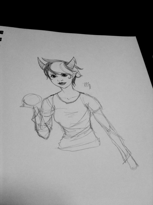 sketch of kanaya!!! But very flat…. Lol