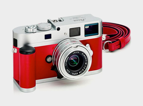 Leica M9-P Silver & Red Leather Limited Edition Camera. I'm sure this Leica can shoot photos just as beautiful as it looks.