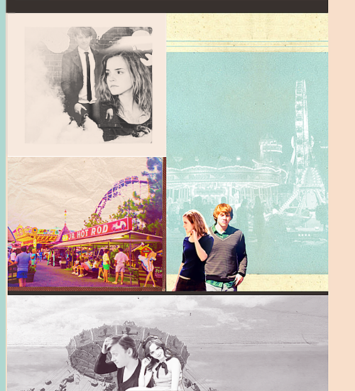AU Meme | Ron & Hermione at an amusement park [Requested by theronweasleygeneration]