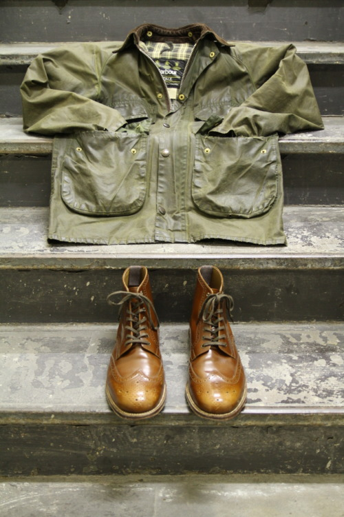 stayclassyhouston:  Grenson x Barbour