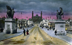 Paris Exposition: Pont d'Jena and Trocadero Palace, Paris, France, 1900 [correction: Pont d'Iena] by Brooklyn Museum on Flickr.