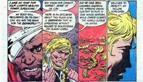 No! Not the hair, Prince Topaz! From Amethyst Princess of Gemworld #16, Second Series