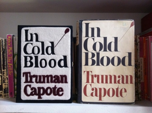 olympialetan:  In Cold Blood book-clutch by Olympia Le-Tan and book by Truman Capote.