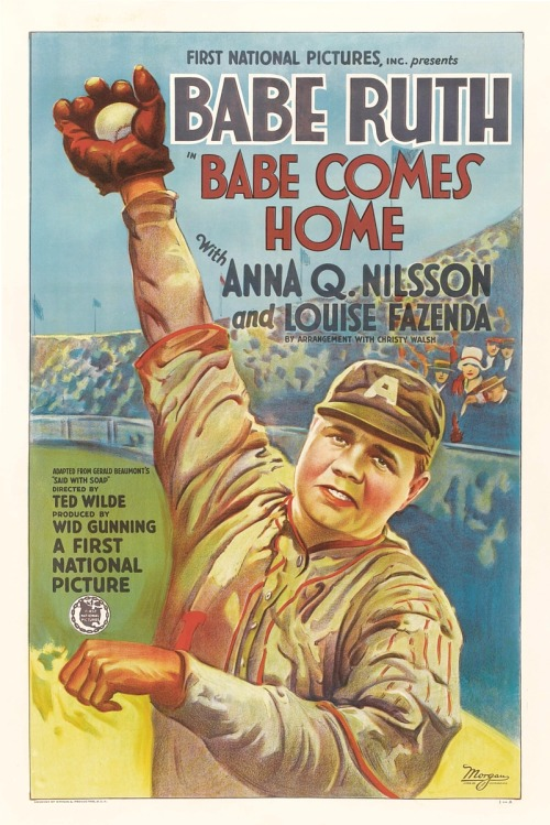 "1927 ""Babe Comes Home"" Lobby Poster First National Pictures"