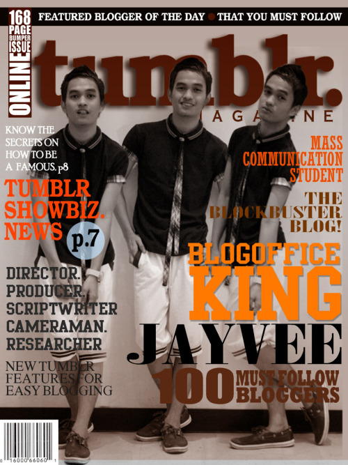 blogofficeking    #004 Tumblr Magazine Layout Vol.1 Issue No: 4 Cover: BLOGOFFICEKING  ——>  The Blockbuster Blog!