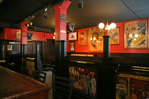 "inside brandy's piano bar  ""The shop downstairs, Brandy's Piano Bar, was a corny-looking nightspot I  could have passed a thousand times without once noticing…I've never gone in. I've just passed through the smokers on the sidewalk,"" ~ Jonathan Lethem, Chronic City  mapping chronic city (wsj via patell and waterman's history of new york) [photo by Shanna Ravindra for NYM]"