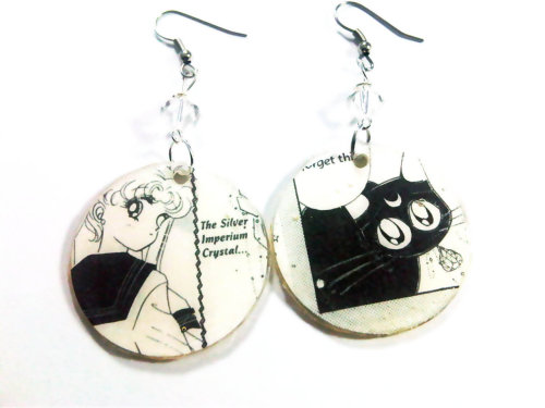 Usagi and Luna in their lovable moment :)  http://www.etsy.com/listing/83760340/upcycled-sailor-moon-manga-featuring?ref=pr_shop