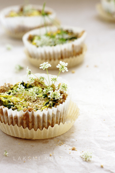 Pies With Wild Herbs, Homemade Cheese & Sesam by Laksmi W on Flickr.