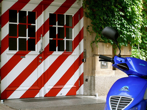 Candy striped doors in Mannheim, Germany (Explored FP) (by ROSI' s World)