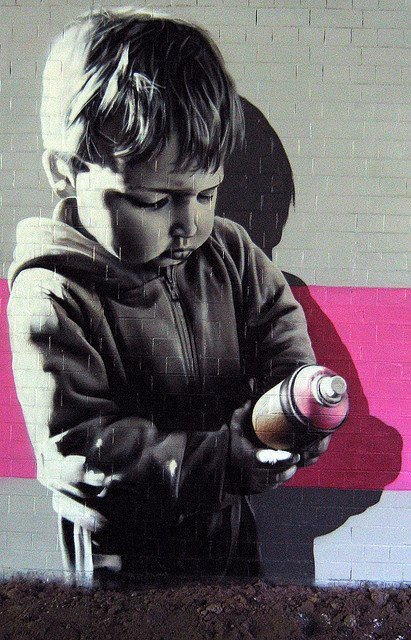 I'm just a kid with a spray-paint bottle and art in my heart.