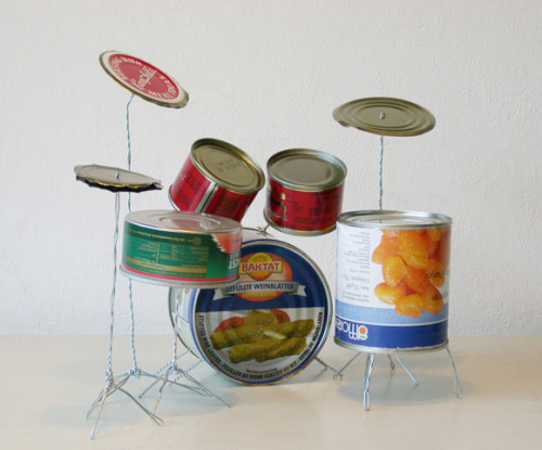 valeriavega:  Artist: Helmut Smits1. Title: Drum Kit     Year: 2003     Materials: tin cans, metal wire     Dimensions: L 27 cm W 22 cm H 16 cm2. Title: Landscape       Year: 2005