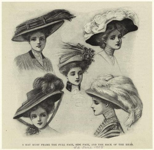 downtonabbeyhistory:  Hats, 1908.