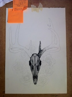 jonathan-bishop:  Skull finished, Antlers tomorrow, right now I need a burger and a beer